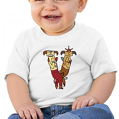 Sabina Harriman Unisex-Adult Baby V Couple Sheep Summer Short Sleeve Tee Shirts by Sabina Harriman