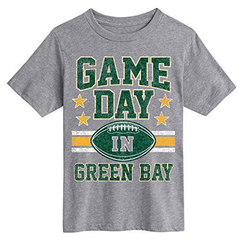 Green Bay Packers Cloths (Instant Message Green Bay Football- Novelty Youth Short Sleeve Tee Shirt)