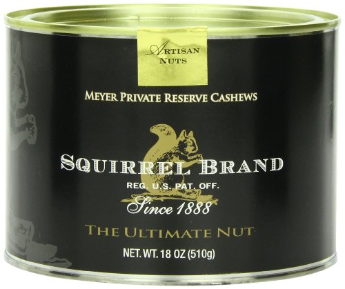 Squirrel Brand Nuts, Meyer Private Reserve Cashews, 18-Ounce Can