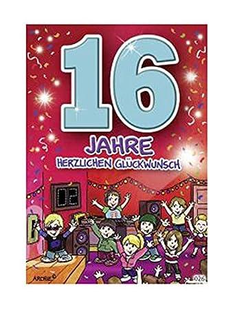Geburtstagskarte basteln 16 geburtstag
