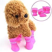 Zapatos antideslizantes para mascotas STAR-TOP Boots antideslizantes, elásticos, protectores para todo uso, todos los terrenos, calzados, para perros (4 piezas)