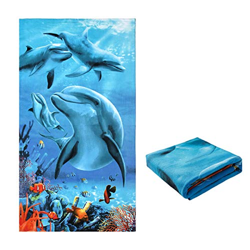 Jingmu Oversized Microfiber Square Beach Towel - Extra Large Big Beach Blanket 40
