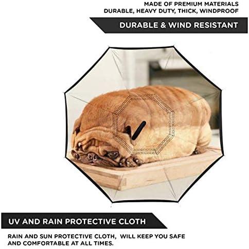 パグパン 逆さ傘 逆折り式傘 車用傘 耐風 撥水 遮光遮熱 大きい 手離れC型手元 梅雨 紫外線対策 晴雨兼用 ビジネス用 車用 UVカット