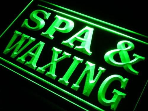 16''x12'' Spa Waxing Neon Sign LED Lights (green) by Way Up Gifts (Image #2)