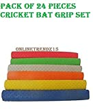 24 Pieces Bat Grip NEW Turbo Cricket Bat Grips 30 cm, BEST RUBBER HANDLE GRIP,TOP QUALITY