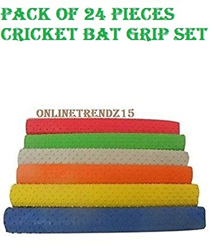 24 Pieces Bat Grip NEW Turbo Cricket Bat Grips 30 cm, BEST RUBBER HANDLE GRIP,TOP QUALITY by ANMOL COLLECTIONS