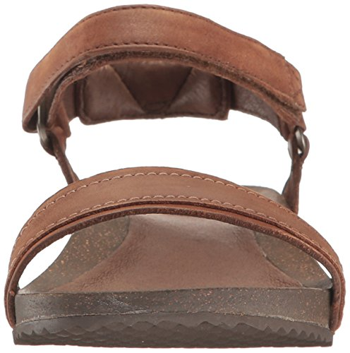 Brown Womens Ysidro Leather Stitch Sandals ladies Teva Comfortable Summer 8FqwOw