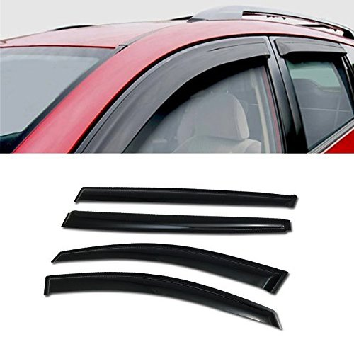 For 2011-2014 Kia Sportage Models SUN/RAIN/WIND GUARD SMOKE VENT SHADE DEFLECTOR WINDOW VISOR 4PCs