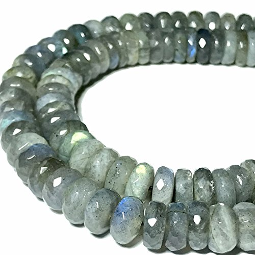 [ABCgems] Brazilian Labradorite 6mm Faceted Rondelle Beads for Beading & Jewelry Making