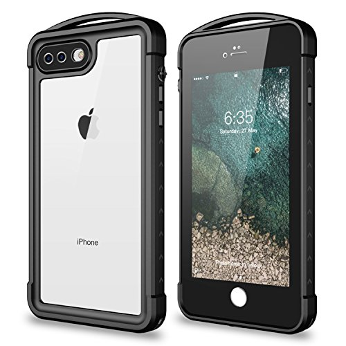 Cheap Waterproof Cases iPhone 8 Plus/ iPhone 7 Plus Waterproof Case,SNOWFOX Outdoor Underwater Snowproof Dirtproof..
