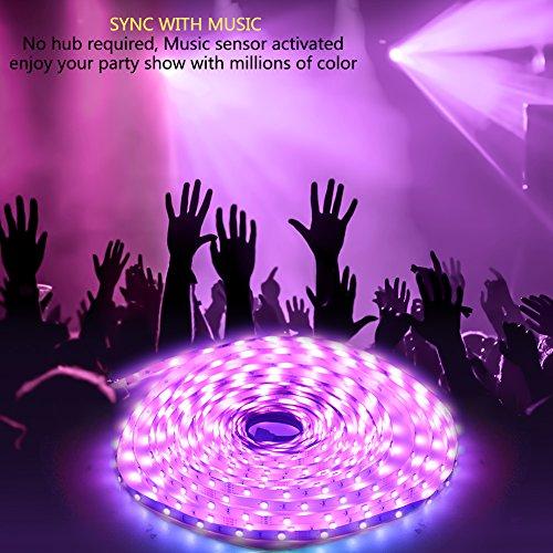 51yqHB7aWML - Rxment RGB LED Strip Lights with Remote - 5M 16.4 Ft 5050 RGB 150LEDs Full Kit, Blue LED Light Strip, LED Night Light, LED Rope Lights, LED Tape Light, Alexa Accessories, LED light strips, LED lights