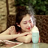 Celend New Style Lens Aroma Humidifier, Lens Essential Oil Diffuser Humidifier with Colorful Night Lamp (Blue)