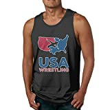 USA Wrestling Membership Men's Popular Sleeveless Tank Top Summer Sport Gym Tees