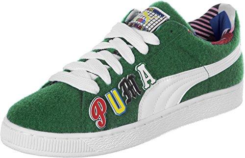 Puma Basket X Dee & Ricky CR Calzature Sportive Verde Limited-Edition Scarpe da Uomo Sneaker Multicolore