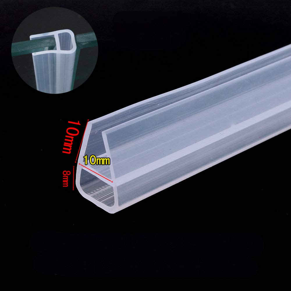 10mm 3/8 inch Thick Glass Collision Avoidance Gasket Glass Screen Sliding Sash Shower Door Window Balcony Silicone Seals Draught Excluder Strip Weatherstrip Draft Stopper 1 Meter 3.28 Feet U