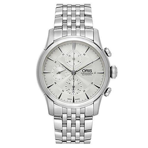 Oris Artelier Automatic Regulator Watch - Mens 40mm Analog Silver Face with Second Hand, Date and Sapphire Crystal - Stainless Steel Metal Band Self Winding Swiss Made Luxury Watches 749 7667 4051