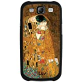 Iluv iSS243KIS Klimt Premium Inlay Hard-shell Case for Samsung Galaxy S III, 1-Pack, Retail Packaging, Gold