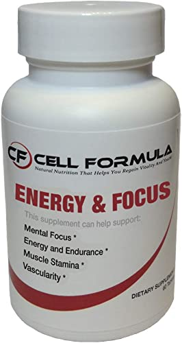 Energy and Focus – No Crash, No Jitters, an Effective Blend of, L-Arginine 360mg, Vitamin B-12 30mcg, Potassium 40mg, Caffeine anhydrous 100mg, Non-GMO, Gluten Free