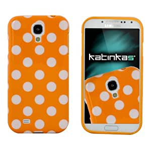 Katinkas Dotty Cover f/ Samsung Galaxy S4 - mobile phone cases Naranja, Color blanco