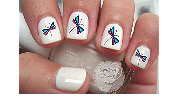 - Amazon.com: 40 Dragonfly Nail Art Decals: Beauty