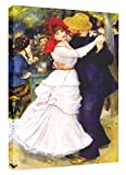 Eliteart- Dance at Bougival By Pierre-Auguste Renoir Oil Painting Reproduction Giclee Wall Art Canvas Prints 20''x30''