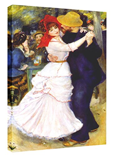 Eliteart- Dance at Bougival By Pierre-Auguste Renoir Oil Painting Reproduction Giclee Wall Art Canvas Prints 20''x30'' by Elite Art