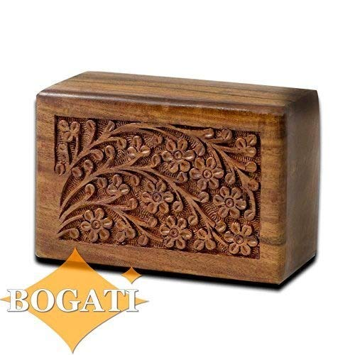 Mahogany Urn - Hand-Carved Rosewood Urn Box (XX-Large)