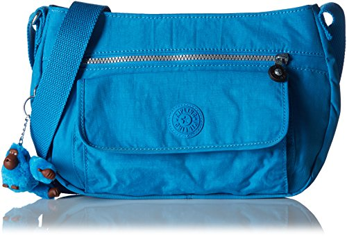 Kipling Women's Syro Shoulder Bag Blue (Icy Blue)