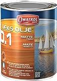 Owatrol Deks Olje D1, Wood Oil, Decking Oil, Matte Finish, 1 Liter
