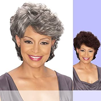 Amazon Foxy Silver Synthetic Wig Emily 1b Hair Replacement