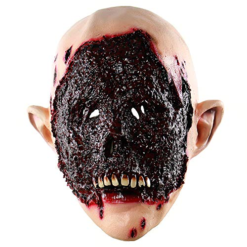 Xiao Chou Ri Ji Halloween Zombie Props Scary Bloody Mask Masquerade Latex Adult Costume Party]()