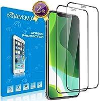 【2019iPhone為の改良3D】AMOVO iPhone 11 ガラスフィルム iPhone 11 /Xr 対応 「独創デザイン」 日本旭硝子材 ケースに対応 iPhone 11 フィルム 6.1インチ Face IDに対応 自己吸着...