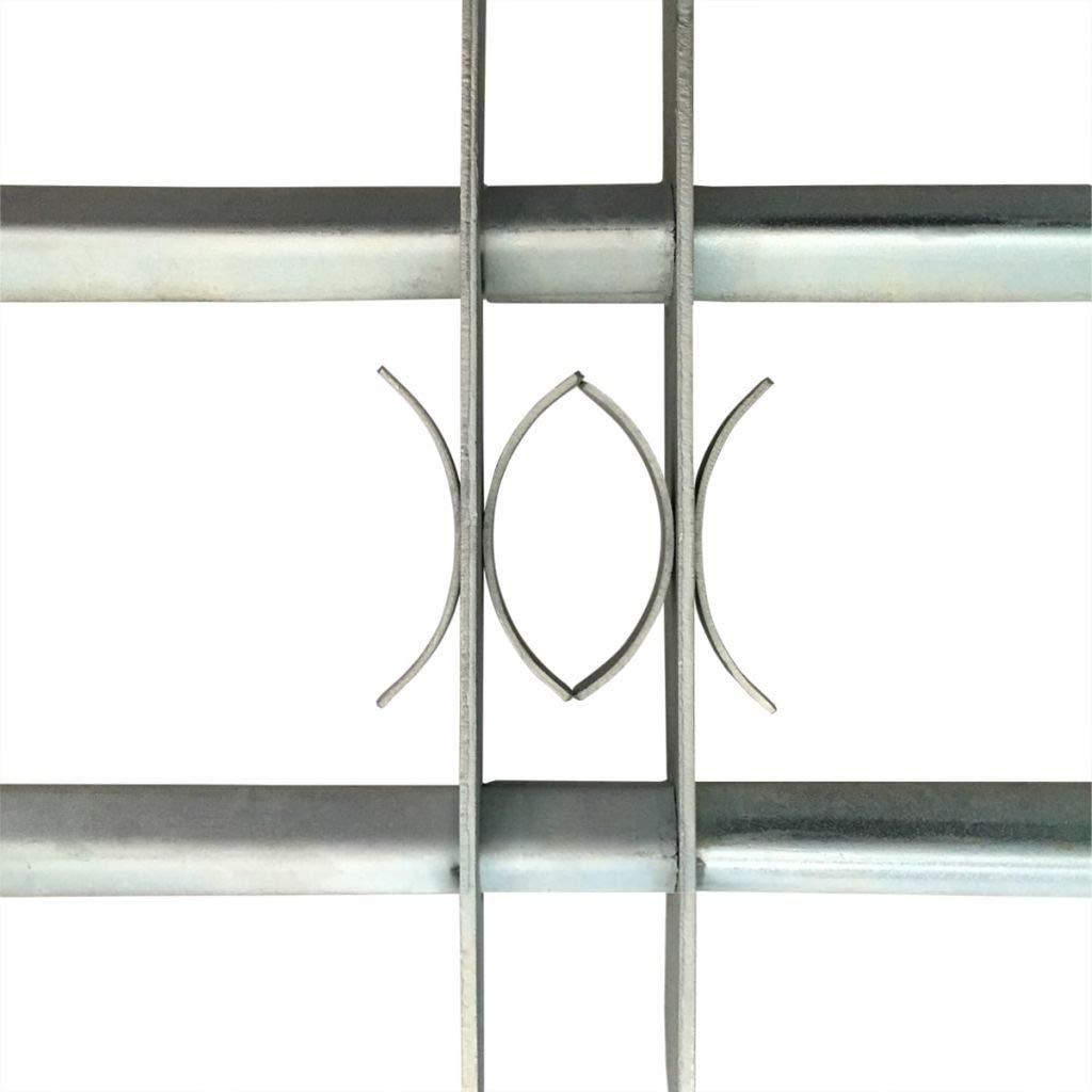 Arichtop Einstellbares Sicherheitsgitter f/ür Fenster 2 Querbalken 1000-1500mm