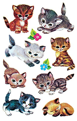 Avery Zweckform 4346 Kinder Sticker, Katzen, 30 Aufkleber
