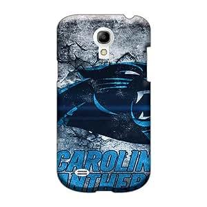 AlissaDubois Samsung Galaxy S4 Mini Scratch Protection Phone Cases Allow Personal Design Lifelike Carolina Panthers Pattern [GeJ10564dMky]