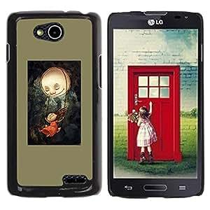 Be Good Phone Accessory // Dura Cáscara cubierta Protectora Caso Carcasa Funda de Protección para LG OPTIMUS L90 / D415 // Dark Olive Painting Creepy