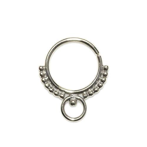 Amazon Com Silver Septum Piercing 18 Gauge Septum Ring Nipple Ring Helix Hoop Handmade