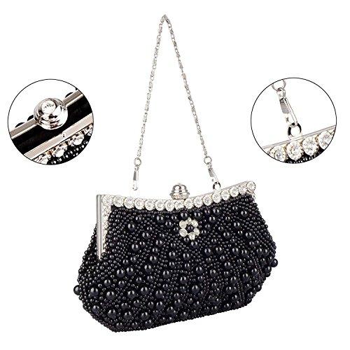 EROUGEevening à Femme Sacs bag main Noir Fz8nSTz0