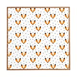 Deny Designs Zoe Wodarz, Foxy, Framed Wall Art, Small, 12''x 12''