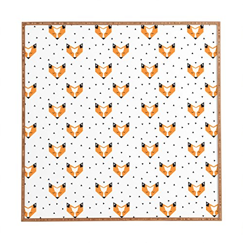 Deny Designs Zoe Wodarz, Foxy, Framed Wall Art, Small, 12''x 12'' by Deny Designs