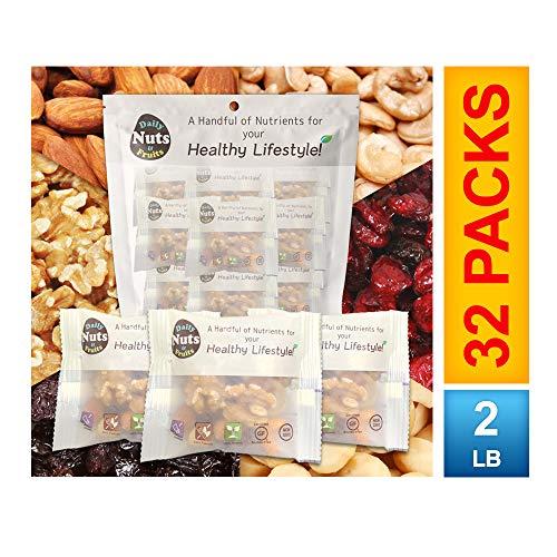 DAILY HEALTHY MIX (4 NUTS+2 DRIED FRUITS)| UN-SALTED | KOSHER | GLUTEN FREE, NON-GMO, PALEO, VEGAN FRIENDLY ()