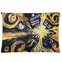 ZhouBrand Doctor Who Custom 20 by 30 Inch Zippered Cotton And Polyester Rectangle Pillowcases Protector Case
