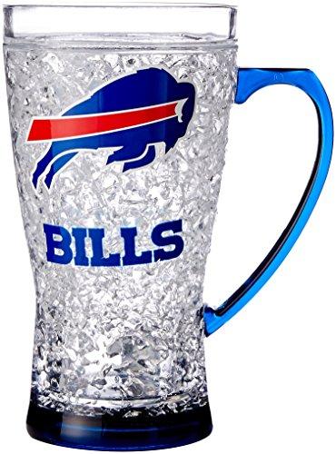NFL Buffalo Bills Crystal Flared Mug, 16-Ounce (Buffalo Bills 16 Oz Crystal)