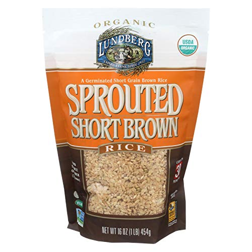 Lundberg Organic Sprouted Short Grain Brown Rice, 1 Pound -- 6 per case. (Best Short Grain Brown Rice)