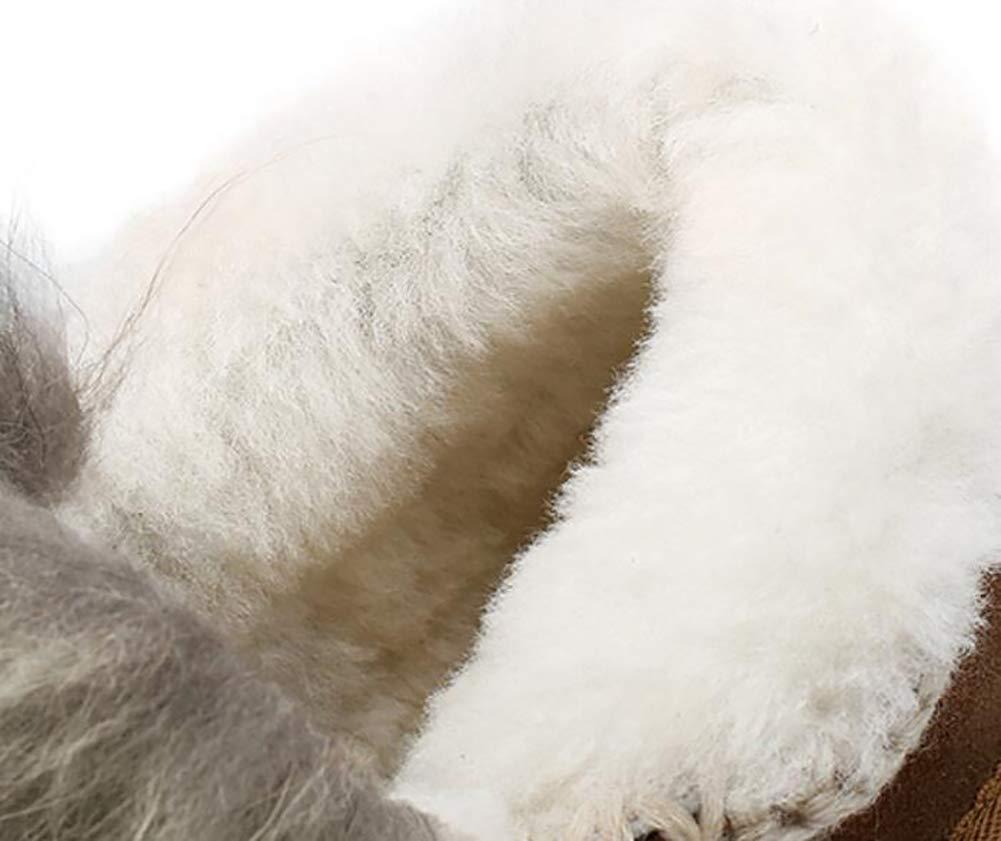 Fuxitoggo Damen Knöchel Knöchel Knöchel Schneestiefel Winter Wildleder Plüschschuhe Europäischen Und Amerikanischen Stil Lässig Frauen Stiefel,rot,37 (Farbe   Rot, Größe   38) 2a22d0