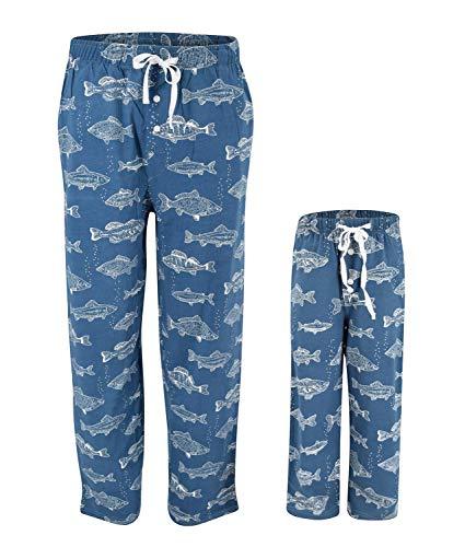 UB Kids Fisherman Print Matching Family Father's Day Pajama Pants (4t) ()