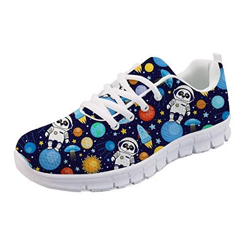- FOR U DESIGNS Flats Running Shoes Cartoon Astronaut Pattern Womens Mens Running Walking Sneakers Size 38