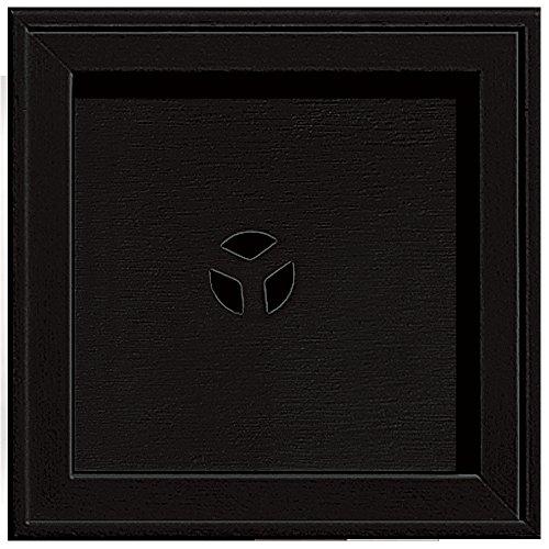 Builders Edge 130110004002 Recessed Square Mounting Block 002, Black (Square Mounting Block)
