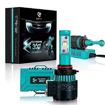Glowteck EXTREME360 LED Headlight Conversion Kit CREE XHP50 Chip From Halogen/HID/Xenon Car Headlamp 2 Year Warranty
