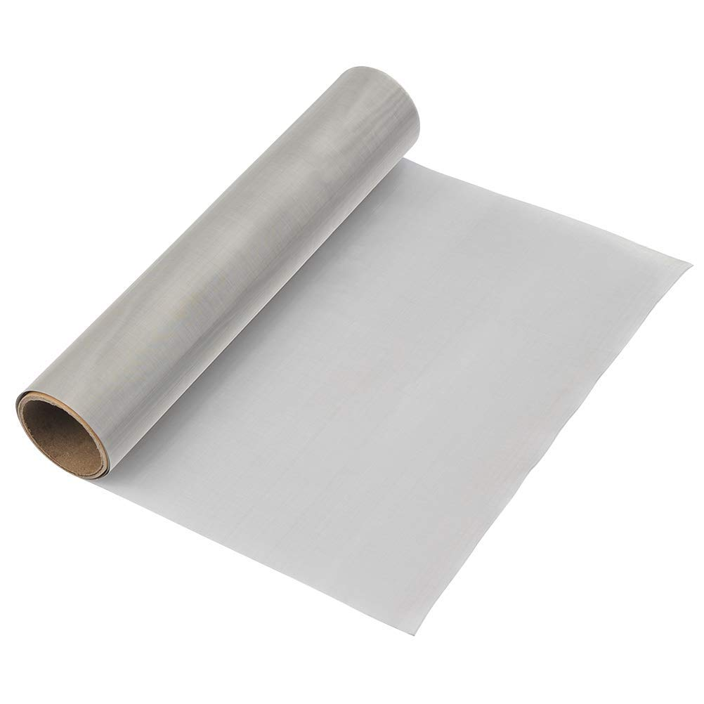 "ZWIN 12""X40"" Stainless Steel Woven Wire Mesh Roll 30cmX100cmcm Stainless Steel Mesh Screen 120 Mesh - Filter Screen Sheet Filtration Cloth(0.125mm Hole)"